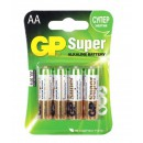 Батарейки GP Super 15A-CR4, 4 шт AA